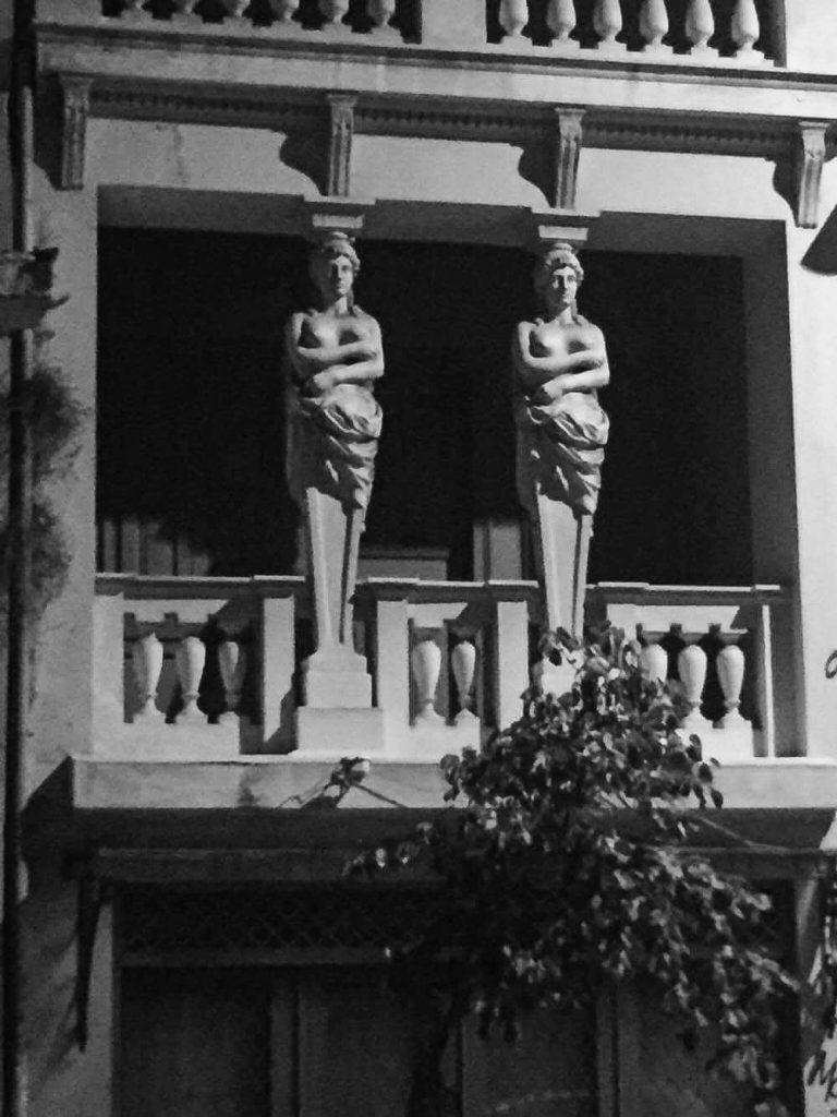 Grey statues